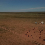 View over Gobi desert pasture-2