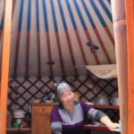 Morning inside ger (yurt)
