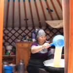 Morning inside ger (yurt)-1