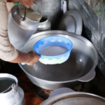 Filtering fresh milk